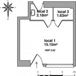 Location Local commercial Lourdes 18 m²