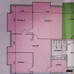 Location Bureau Saint-Martin-d'Hères 106,23 m²