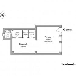 Location Local commercial Draveil 38 m²