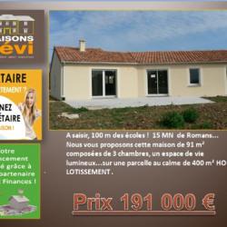 Terrain  de 400 m²  Romans-sur-Isère  (26100)