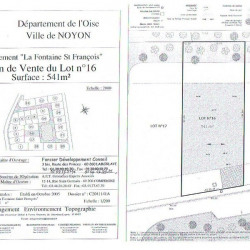 Vente Terrain Noyon 541 m²