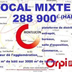 Vente Entrepôt Montluçon 1050 m²