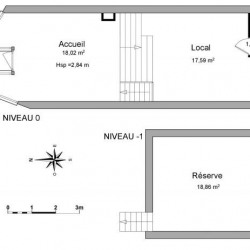 Location Local commercial Mont-de-Marsan 56 m²