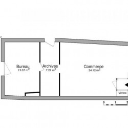 Location Local commercial Decazeville 44 m²