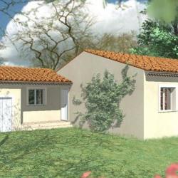 Maison  4 pièces + Terrain  805 m² Saint-Paulet-de-Caisson