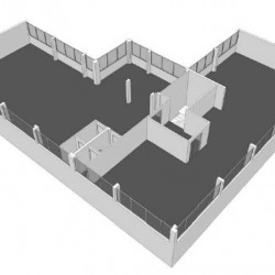 Location Bureau Fresnes 206,54 m²