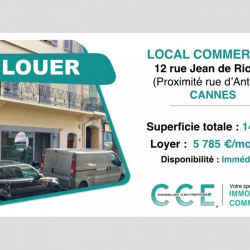 Location Local commercial Cannes 140 m²
