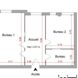 Location Local commercial Cachan 47 m²