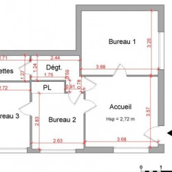 Location Local commercial Bourgoin-Jallieu 51 m²