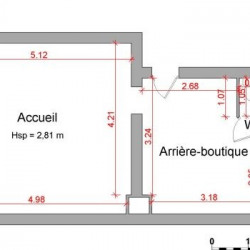 Location Local commercial Rennes 36 m²