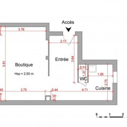 Location Local commercial Colombes 41,56 m²