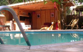 VILLA BOIS CAP FERRET AVEC PISCINE CHAUFFEE - BAR DE JARDIN AVEC PLANCHA + ESPACE LOUNGE  tel 0661904225