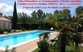 Villa 12 pers., Sauna, Piscine chauffée, Clim,  Cuisine ext Pro, Fitness, 0.5 hectare - Roussillon