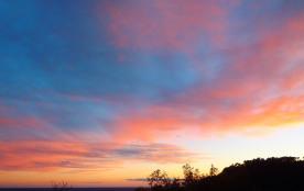 magnifique couleur de ciel a l'automne