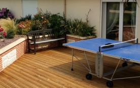 Terrasse arriere, ping pong...