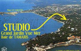 A 400 m de la MER et à 5 mn DE LA PLAGE !!! SUPERBE STUDIO VUE MER AVEC GRAND JARDIN PRIVATIF DE 70M²  et PARKING PRIVE