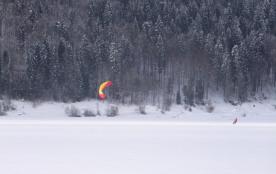 ski/voile sur le lac des Rousses