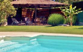 Appartement dans maison provencale avec piscine spa jacuzzi sur la cote d'azur autour de NICE a LA GAUDE