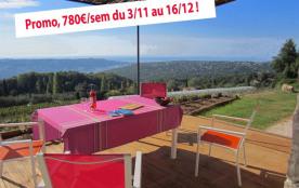 gite d'exception le balcon dazur. promo 780€/sem 3/11au 16/12 autre prix spécial pour 2 ou 4 personnes