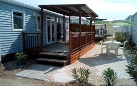 2 Mobil-Homes climatisés dans camping 5* Bord de mer à Palavas les Flots