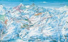 PLan des pistes Espace Kelly (Tignes_Val d'Isère)