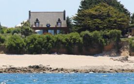 La villa de la dune face à la plage