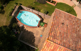 Vue de la piscine du Tilleul