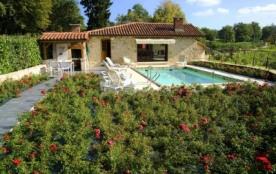 Gîte vacances piscine privée campagne(domaine 8ha) - Latronquière