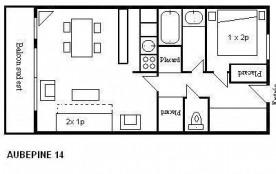 Appartement 2 pièces 4 personnes (14)