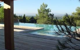 Villa d'architecte contemporaine standing grande piscine,vue 7 km Carcassonne
