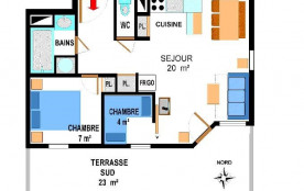 Appartement duplex 2 pièces 5 personnes (B8)