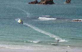 vive le kite-surf vue du balcon bien assis dans le canapé!