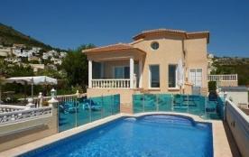 Maison/Villa, Cumbre Del Sol, vues, au calme, vue mer, piscine chauffée privée, aire jeux enfants, connexion wifi...