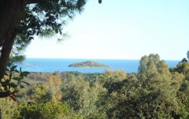 vue mer de la terrasse et de la maison