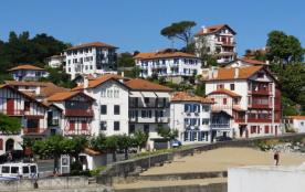 Ciboure, quai Maurice Ravel et plage du port