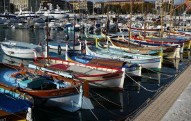 Fishing boats in Nice harbour