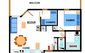Appartement 3 pièces 6 personnes (B32)