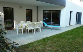 ApConcarneau-centre,63 m2,jardin,plage,2chbres,parking privé,WiFi,toilette sép