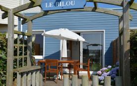Villa T2 avec piscine chauffée et vue mer à Le Conquet