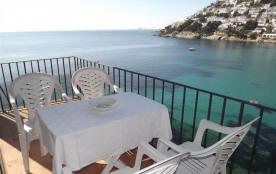 Miraflor - Appartement avec belle vue sur la mer et plage de Canyelles.