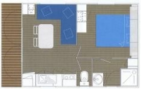 Camping Risle Seine Les Etangs - Mobil-home Confort 20m² - 1 chambre