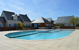 Maison de vacances, plage, centre, et commerces à pied dans résidence avec piscine