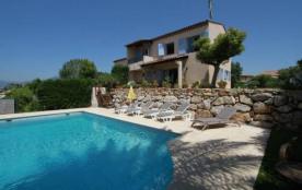 villa 6 pers, vue mer, piscine privée - Cagnes sur Mer