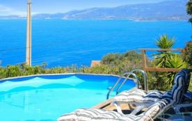 Villa à louer avec Panorama somptueux sur le golfe et les montagnes.
