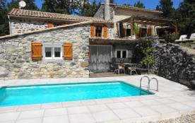 Vallon des Etoiles:piscine privée chauffée et Spa