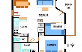 Appartement 3 pièces 6 personnes (A62)