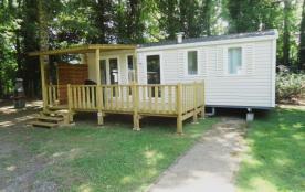 CAMPING DU BASSIN NAUTIQUE DE TREMOLAT : hébergement en mobiles Homes 4 personnes ou 6 personnes