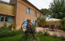 Calme, repos dans le gîte au pied des coteaux viticoles Gaillacois.