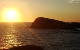 Vue coucher du soleil
