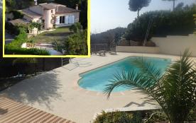 Villa au calme,  piscine, proche mer et montagnes